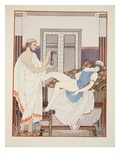 Gynaecological Examination, Illustration from 'The Works of Hippocrates', 1934 (Colour Litho) Giclée-Druck von Joseph Kuhn-Regnier