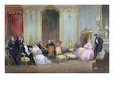 Family Scene, C.1840 (Colour Litho) Giclee Print by Eugene-Louis Lami
