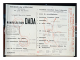 Dada Manifestation, C.1921 (Litho) Giclée-tryk af  French