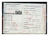 Dada Manifestation, C.1921 (Litho) Impressão giclée por  French