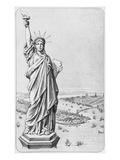 The Statue of Liberty, New York, C.1885 (Engraving) (B/W Photo) Giclée-Druck von  American