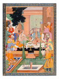 A Prince and Companions Take Refreshments and Listen to Music, from the Small Clive Album Giclee Print by  Mughal