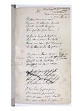 Manucript of 'Ariettes Oublies, Iii' from 'Romances Sans Parole', 1874 (Pen and Ink on Paper) Giclée-Druck von Paul Verlaine