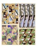 Abstract Designs, from 'Decorations and Colours', Published 1930 (Colour Litho) Giclée-Druck von Georges Valmier