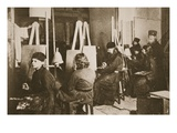 Icon Painting at Valamo Monastery on Lake Ladoga, C.1885 (Sepia Photo) Giclee Print by  Russian Photographer