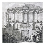 The Porta Aurea, from 'Ruins of the Palace of Emperor Diocletian at Spalatro in Dalmatia' Giclee Print by Robert Adam