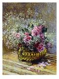 Roses in a Copper Vase, 1878 Giclée-tryk af Claude Monet