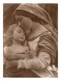 Portrait of Mother and Child (Sepia Photo) Lámina giclée por Julia Margaret Cameron