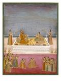 The Young Mughal Emperor Muhammad Shah at a Nautch Performance (1719-48), C.1725 Lámina giclée por  Mughal