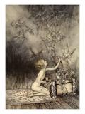 A Sudden Swarm of Winged Creatures Brushed Past Her Giclée-tryk af Arthur Rackham