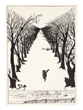 The Cat That Walked by Himself, Illustration from 'Just So Stories for Little Children' Giclée-tryk af Kipling, Rudyard