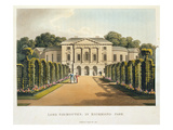 Lord Sidmouth's, in Richmond Park Giclee Print by Humphry Repton