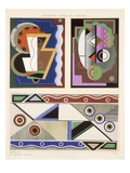Abstract Designs, from 'Decorations and Colours', Published 1930 (Colour Litho) Giclee Print by Georges Valmier