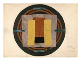 Circular Design for a Rug, 1916 (W/C and Collage on Paper) Giclée-tryk af Roger Eliot Fry