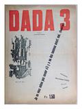 Revue Dada nr. 3, december 1918, farvelitografi Giclée-tryk af  French