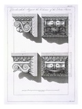 Consoles Which Support Columns of the Porta Aurea Giclee Print by Robert Adam