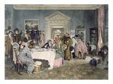 London to York - Time's Up! - an Incident in the Old Coaching Days, Published 1897 (Aquatint) Gicléetryck av Walter Dendy Sadler