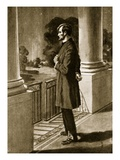 Lincoln Looks Out from the White House (Litho) Giclee Print by  American