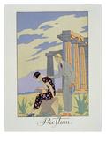 Paestum, 1924 (Pochoir Print) Giclee Print by Georges Barbier