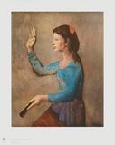 Frau mit Fächer Sammlerdrucke von Pablo Picasso