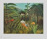 Horse and Jaguar Keräilyvedos tekijänä Henri Rousseau