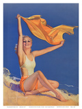 Sunshine Pin Up Girl c.1940s ポスター : ロルフ・アームストロング