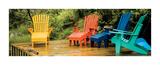 Muskoka Chairs, Nova Scotia Print by Jeff Maihara