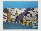 Kitzbuehel in Winter Plakat av Alfons Walde
