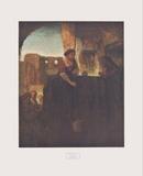 Jesus and the Samarite Samlertryk af  Rembrandt van Rijn