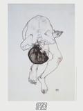 Nude - 1913 Prints by Egon Schiele