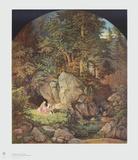 Genoveva in the Forest Keräilyvedos tekijänä Adrian Ludwig Richter