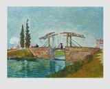 The Bridge , 1889 Keräilyvedos tekijänä Vincent van Gogh