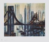 The Brooklyn-Bridge Impressão colecionável por Marcel Gromaire