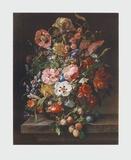 Flowers and Fruit Lámina coleccionable por Rachel Ruysch