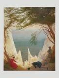 Chalk Cliff at Ruegen , 1818 高品質プリント : カスパル・ダーヴィト・フリードリヒ