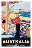 Australia Beach c.1929 ポスター : パーシー・トロンプフ