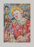 Clown witha Dog Collectable Print by Oskar Kokoschka