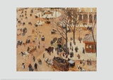 Square at the French Theatre Affiches par Camille Pissarro