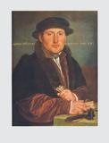 Portrait d'homme Reproduction pour collectionneur par Hans Holbein the Younger