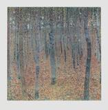 Beech Trees (hand-made paper) Samlertryk af Gustav Klimt