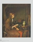 The Reader Lámina coleccionable por Gerard Terborch