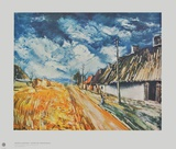 Cottages at the Roadside Samlarprint av Maurice Vlaminck
