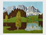 Schwarzsee near Kitzbuehel Posters av Alfons Walde