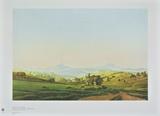 Bohemian Landscape with the Mount Milleschauer Keräilyvedos tekijänä Caspar David Friedrich