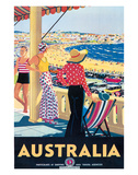 Australia Beach c.1929 Reproduction procédé giclée par Percy Trompf