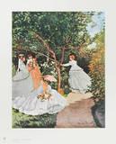 Women in the Garden Samlertryk af Claude Monet