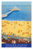 Holland Beach, Scheveningen Pier c.1950s Posters