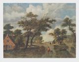 Extensive Landscape Lámina coleccionable por Meindert Hobbema