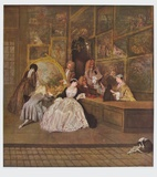 The Art Dealer Gersaint's Sign Board (right part) Collectable Print by Antoine Watteau