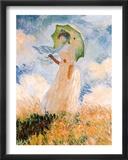 Woman With Umbrella Kunst von Claude Monet